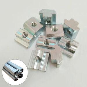 T Nuts Square Solid Slide in Tee Slot Aluminum Extrusion 3D Printer M4 M5 M6 M8