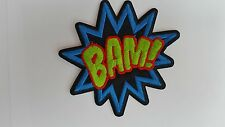BAM Comic book superhero caption  symbol logo iron on patch brand new