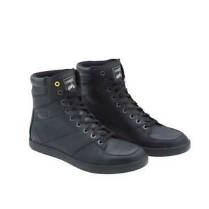 Ducati Scrambler Black Rider Leather Short Motorcycle Boots CE Approved SALE !!