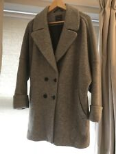 Ladies Next Grey Coat size 16-18 Wool Blend, Lined.