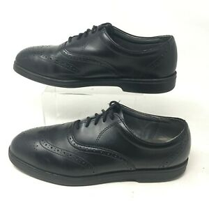 Red Wing Oxford Wingtip Dress Shoes 10.5EE Mens Round Toe Leather Black 2413-05