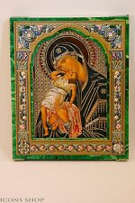 "Icon the Mother of God ""Vzygranie Baby"""" wood base 10x12 Взыграние младенца"
