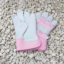 Ladies Rigger Classic palmo in pelle spessa Heavy Duty rosa giardino giardinaggio Guanti