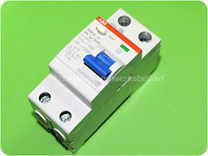 ABB F202 A-25/0,03 Fehlerstrom-Schutzschalter 25 A 30 mA 2-polig