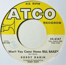 "Bobby Darin Won't You Come Home Bill Bailey EX++ 45 7"" Vinyl Extra 45s Ship Free"