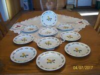 Oriole Christmas Holly Berry Gibson Songbird Vtg Porcelain China 10 Salad Plates