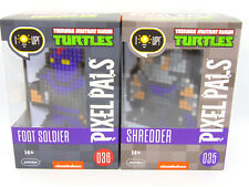 Pixel Pals Set of Two Teenage Mutant Ninja Turtles TMNT Shredder & Foot Soldier