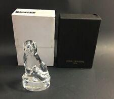 Hoya Crystal Art Glass Labrador Retriever Dog Paperweight Figurine Sculpture