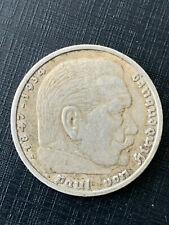 """5 Reichsmark Deutsches Reich 1935 """"D""""  Silber  Hindenburg"""