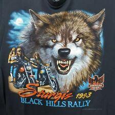 New listing Vintage 1993 3D Emblem American Biker Sturgis Black Hills Rally T-Shirt Xl