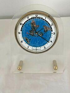 HOWARD MILLER Quartz World Time Alarm Clock Vintage Brand New in Box