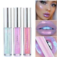 Liquid Crystal Glow Lip Gloss Lipstick Mermaid Pigment Glitter Lip Plumper Gloss