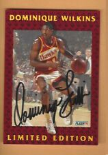 DOMINIQUE WILKINS 1992 FLEER  LIMITED EDITION AUTOGRAPH CARD #5 OF 12