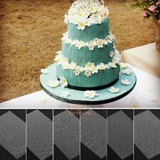 6Pcs Floral Sheet Set Sugar Fondant Craft Decoration Texture Mat Cake Mould Mold