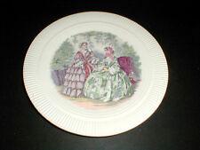"""Salem GODEY PRINTS Ribbed Rim 8-1/4"""" Salad Plate/s (2 Designs)"""