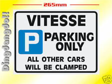Vitesse Triumph Parking Sign Novelty Gift