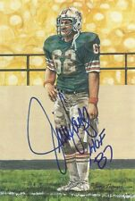 Jim Langer Signed Autograph Goal Line Art w/HOF 87 -  100% Guaranteed
