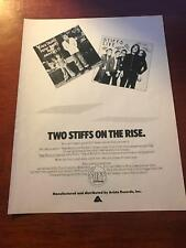 1978 Vintage 8X11 Print Ad For Stiff Records Live + Ian Drury New Boots +Panties