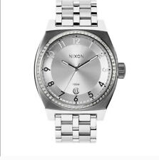 Nixon 'The Monopoly' Silver Stainless Steel White Face Quartz Womens Watch