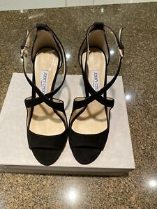 Brand New Jimmy Choo Emily 100 Black Suede Size 41