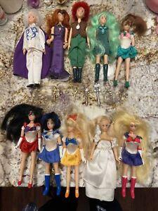 "Lot Of 10 Sailor Moon Adventure Dolls 6"" Poseable Doll Ban Dai 1995 Queen Beryl"