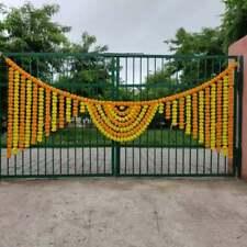 Wholesale 5PC Artificial Marigold Flower Garlands Wedding Indian Home Decoration
