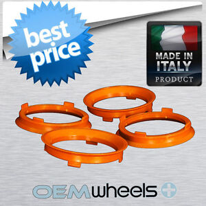 HUB CENTRIC RINGS PLASTIC POLYCARBONATE FITS AUDI VW OD 66.6 66.56 to ID 57.1MM