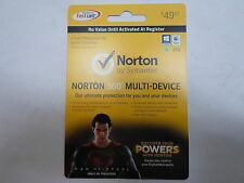 Qty = 60: Norton Man of Steel Fast Cards that can be activated at the Register