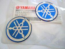 Yamaha GENUINE Tuning Fork Stickers Decals 30mm BLUE FZ FJ RD YZ x 2