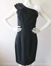 NWT KAREN MILLEN Black One Shoulder Dress Uk/14 US /10 EU/42 Cocktail Evening