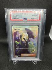 PSA 10 GEM MINT Cynthia SV82/SV94 Full Art Trainer Hidden Fates Pokemon Card