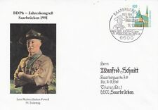 Germany 1991 BDPh Baden Powell 50th death anniversary Cover VGC
