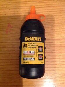 DeWalt DWHT47076 8oz orange Chalk Bottle