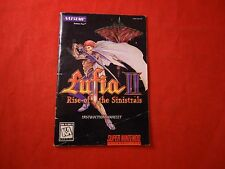 Lufia II Rise of the Sinistrals Super Nintendo SNES Instruction Manual Booklet C