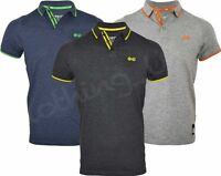 Mens Crosshatch  Short Sleeved Tipped Poly Cotton Mix Pique Polo T Shirt