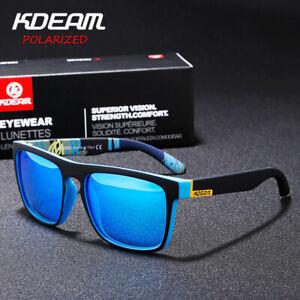 KDEAM Polarized Outdoor Sports Eyewear Mens Driving Sunglasses Mirror Anti-Glare