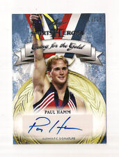 2013 LEAF SPORTS HEROES PAUL HAMM  AUTOGRAPH GOING FOR THE GOLD CARD #13/25