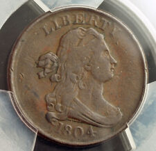 "1804, United States. Beautiful Copper ""Draped Bust"" 1/2 Cent Coin. PCGS VF-35!"