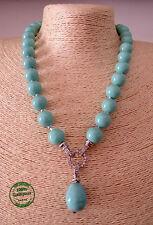 Collana di Perle da Donna Estiva Resina Fredda Turchese Azzurra Elegante Moda