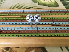 soccer bal cribbage pegs, price is per pair, plus shipping.