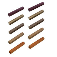 """DCT   Wood Turning Blanks 10pk 3/4"""" x 3/4"""" x 6"""" Inch Exotic Wood Pen Blanks"""