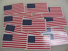 10 USA FLAG Sticker Decal LOT 4 boat car Window Truck suv Wholesale American
