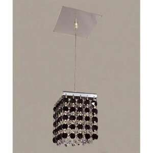 Classic Lighting Bedazzle Crystal Pendant, Chrome - 16101BLK-CP