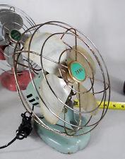 "Vintage Metal Fan zero wizard husky pink blue 1950 1940 chrome art deco 8"" inch"