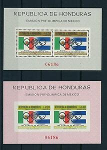 [19225] Honduras 1968 Pre Olympics Mexico perf and imperf Souvenir Sheet MNH