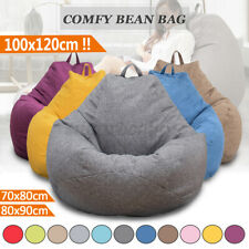 US Large Bean Bag Cover Chair Sofa Indoor Home Lazy Adults Kids Lounger Cushion