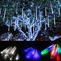 Meteor Shower Falling Rain Drop Snow Icicle Xmas Party Lights String Home Decor
