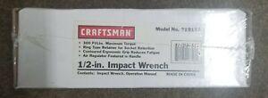 """Craftsman 1/2"""" Air Impact Wrench NIB"""