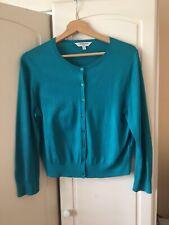 Beautiful LK Bennett Bibi Jade Colour Silk And Cotton Cardigan Size L UK 14-16