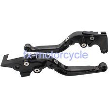 Black Foldable&Extending Brake Clutch Lever For Kawasaki Z750 2007-2012 08 09 10